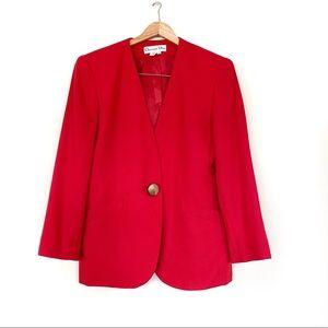 Vintage Christian Dior Red Gold Blazer Jacket 10